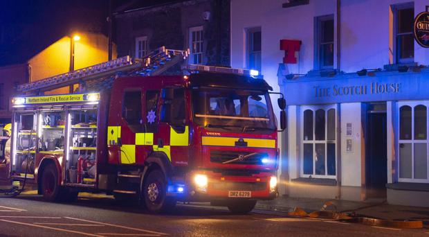 Fire Service at the scene of The Scotch House pub. Pic Kevin McAuley