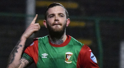 Glentoran striker Darren Murray.
