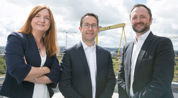 From left: Jayne Brady, Kernel Capital; Alan Foreman, chief executive, B-Secur, and Andrew Sloane, ADV