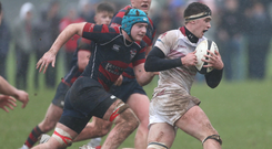 Cup rivals: Armagh Royal's Peter Taylor during the win over Ballymena Academy
