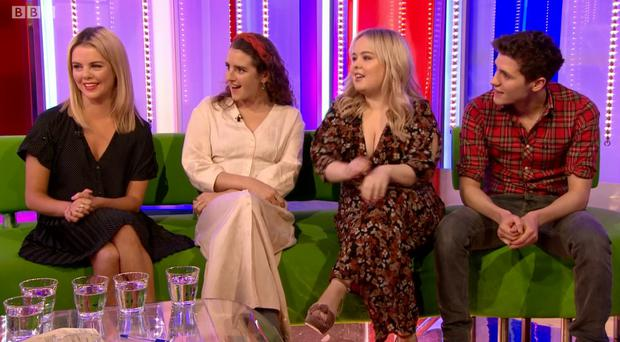 Derry Girls cast were on the One Show ahead of the second series airing on Channel Four tonight. Credit: BBC