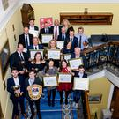 The winners celebrate at the Royal Yacht Association Northern Ireland Awards Ceremony.
