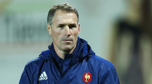 Under-20 Six Nations Championship Round 1,Stade Pre-Fleuri, Sermoise-sur-Loire, France 5/2/2016 France Under 20's vs Italy Under 20's France head coach Olivier Magne Mandatory Credit ©INPHO/Matteo Ciambelli