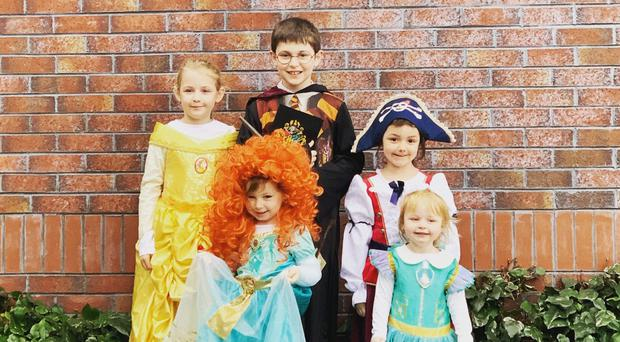 Lewis Dempster (10) Sophia Dempster (8), Kylene Dempster (6), Maisy Dempster (3) and Isabella Dempster (2), Bangor