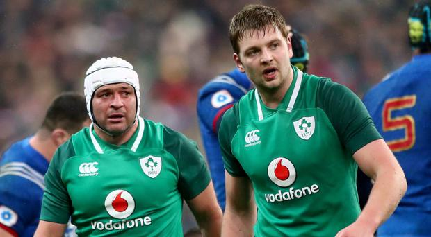 Ireland's Rory Best and Iain Henderson (INPHO/James Crombie)