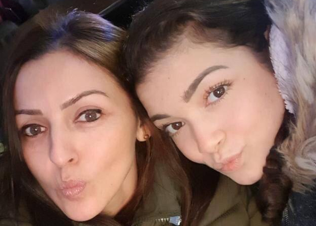 Giselle Marimon-Herrera and her 15-year-old daughter Allison. Credit: PSNI