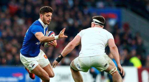 Perfect 10: Romain Ntamack has moved in from centre to outhalf and is the key part in France's gameplan