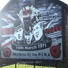 The mural to the three Scottish soldiers.