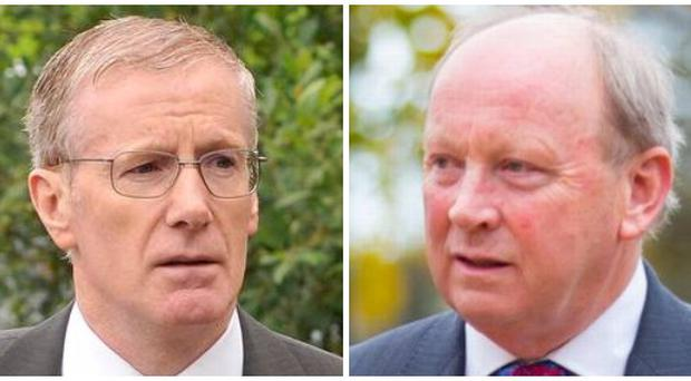 DUP MP Gregory Campbell and TUV leader Jim Allister.