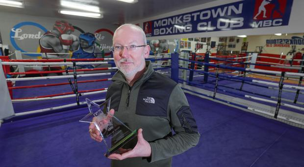 Paul Johnston Spirit of Sport winner from Monkstown Boxing Club (Photo by Colm O'Reilly, Sunday Life 05-03-2019)