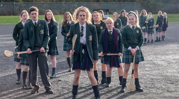 James (Dylan Llewellyn), Erin (Saoirse Monica-Jackson), Michelle (Jamie-Lee O'Donnell), Clare (Nicola Coughlan) and Orla (Louisa Clare Harland)