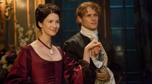 Caitriona Balfe as Claire Randall and Sam Heughan as Jamie Frasier in Season 2 of Outlander (Starz/Sony Pictures Television/PA)