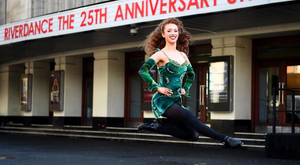 Lead dancer Amy-Mae Dolan, 21, from Aghyaran (Kirsty O'Connor/PA)