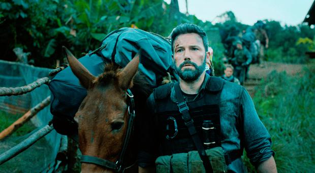 Soldiering on: Ben Affleck as Tom 'Redfly' Davis in Triple Frontier