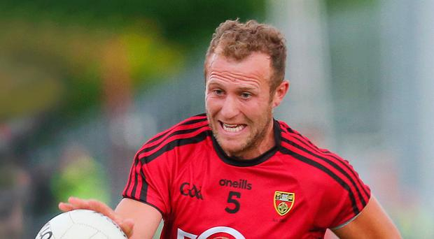 Lead role: Darren O'Hagan can help fire Down into Division Two of the league