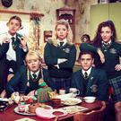 Orla (Louisa Harland), Clare (Nicola Coughlan), Erin (Saoirse-Monica Jackson), James (Dylan Llewellyn) and Michelle (Jamie-Lee O'Donnell)