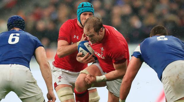 Captain marvel: Wales skipper Alun Wyn Jones can win a third Grand Slam crown by beating Ireland in Cardiff