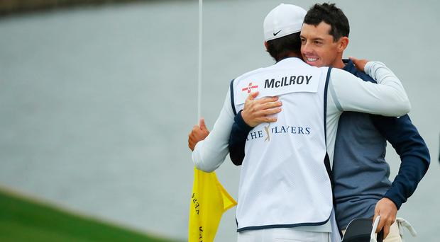 Rory McIlroy says his caddie Harry Diamond is one of the best in the business.