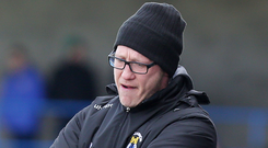 Disappointed: Dungannon Swifts manager Kris Lindsay