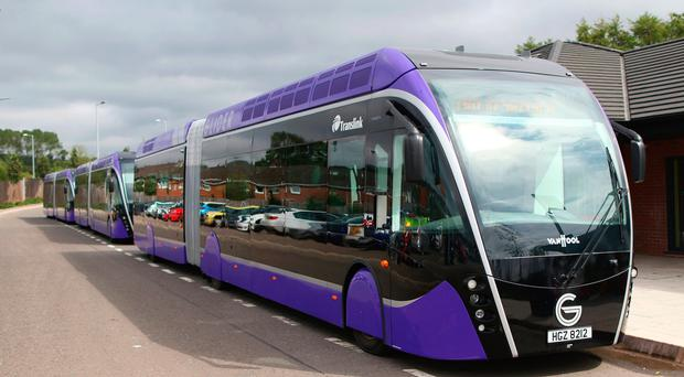 Fare for the Glider system in Belfast are to rise.