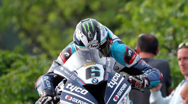 Main man: Michael Dunlop on board his Superbike machine last year