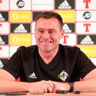 New challenge: Steve Harper has thrown himself into his role as Northern Ireland's goalkeeping coach