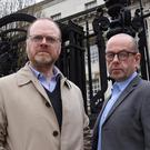 Journalists Trevor Birney and Barry McCaffery at Belfast High court