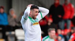 Class act: Cliftonville striker Joe Gormley was the victim of senseless abuse