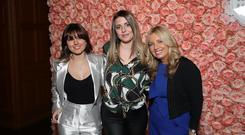 Press Eye - Belfast - Northern Ireland - 21st March 2019 - Campbell College kicked off their 125th Anniversary celebrations in style by welcoming over 260 glamorous guests to their ÔCCB 125: Fashion ShowÕ event on Friday 8th March 2019. The Fashion Show, styled by Rebecca McKinney, was held in association with Strathearn School who are celebrating 90 years. With the help of 8 of the hottest ACA and CMPR Models; they dazzled their guests into the new season and celebrated the history of both Campbell College and Strathearn School by welcoming 17 pupils, three past pupils and three incredible members of staff on to the Catwalk. Past Pupils: Paddy Wallace - retired Ulster and Irish Rugby Player, Michelle Harvey -Irish Hockey Player and Jason Harvey - Commonwealth Athlete. Emma Murdock, Sarah Abernethy and Gayle Bunting pictured at the Campbell College 125 Fashion Show in association with Strathearn School. Photo by Kelvin Boyes / Press Eye