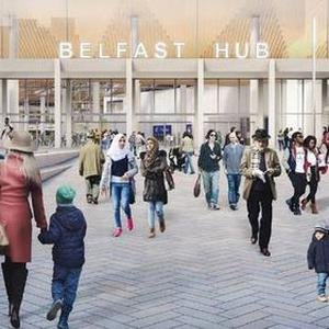 Artist impression of new Belfast Transport Hub.