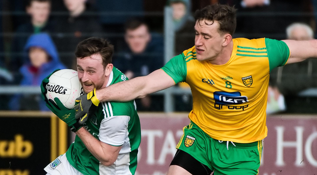 Vital role: Ciaran Corrigan's ability to link defence and attack is a key Fermanagh weapon