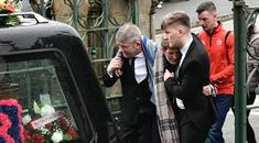 Friends and family of teenager Morgan Barnard attend his funeral in Dungannon. Photo Colm Lenaghan/Pacemaker Press