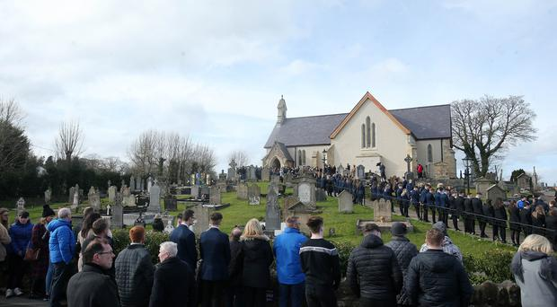 Funeral of 16-year-old Connor Currie at St Malachy's Church in Edendork, Co. Tyrone. Picture by Jonathan Porter/PressEye.com