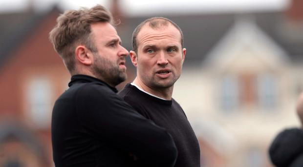 Survival fight: Ards boss Warren Feeney and his assistant, cousin Lee, hope to steer the north Down men to safety