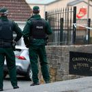 Police outside the Greenvale Hotel in Cookstown, Co. Tyrone. Pic: Liam McBurney/PA Wire
