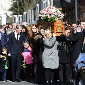 PACEMAKER BELFAST 23/03/2019 The Funeral of Ruth Maguire, 30 took place at St Vincent de Paul Church in Belfast on Saturday March 23. Ms Maguire's funeral notice reads: