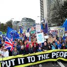 Anti-Brexit campaigners take part in the People's Vote March in London. PRESS ASSOCIATION Photo. Picture date: Saturday March 23, 2019. Pic: Yui Mok/PA Wire