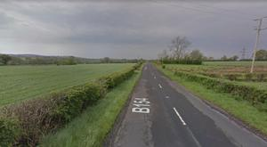 A van and possible ATM machine were found in a field off the Carnaghliss Road. Pic Google Maps
