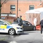 A cordon has been put in place along Dunluce Avenue, and a substantial police presence can be seen near City Hospital. Pic Pacemaker