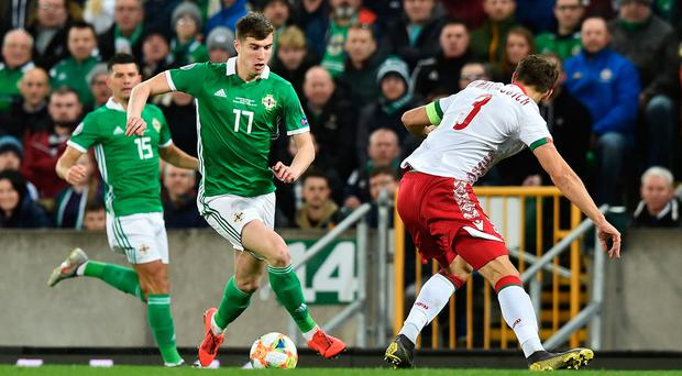 Paddy McNair put in a starring performance against Belarus.