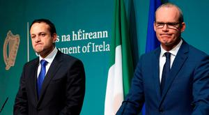 The government of Leo Varadkar (left) and Simon Coveney would face major challenges in the event of a vote for a united Ireland