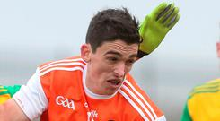 Consolation: Rory Grugan was on target for Armagh