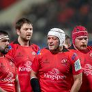 Leinster-born Marty Moore (left) and Eric O'Sullivan (right) will be hoping to upset their native province this weekend when they line-up either side of Rory Best.