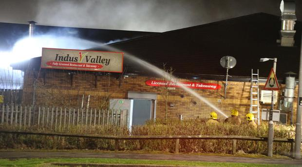 The fire at Riverside Regional Centre in Coleraine. Credit: Kevin McAuley