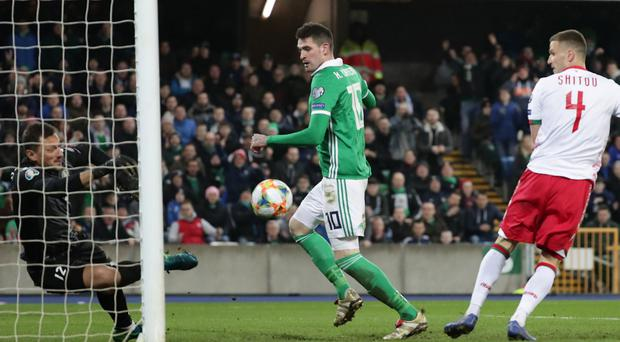 Northern Ireland striker Kyle Lafferty has been backed to end his international goal drought.