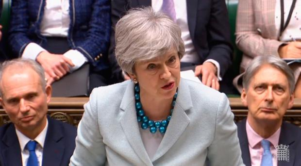Prime Minister Theresa May makes a statement on Brexit to the House of Commons. Photo credit: House of Commons/PA Wire