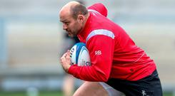 Team leader: Ulster captain Rory Best in training yesterday for Saturday's Champions Cup quarter-final
