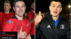 Ulster's John Cooney and Leinster's Johnny Sexton will go head to head this weekend.