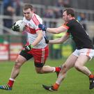On song: Ryan Bell is fit once again and will be a major positive for Derry at Croke Park