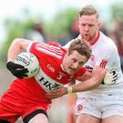 Crucial: Derry's Brendan Rogers (left) has major role today